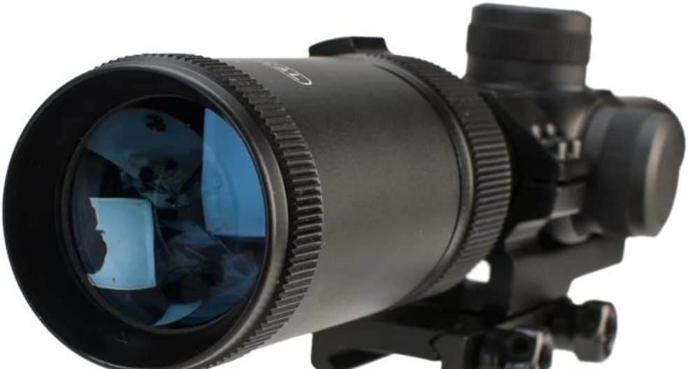 CenterPoint 1-4×20 MSR Rifle Scope with Offset Picatinny Mount and Glass Reticle