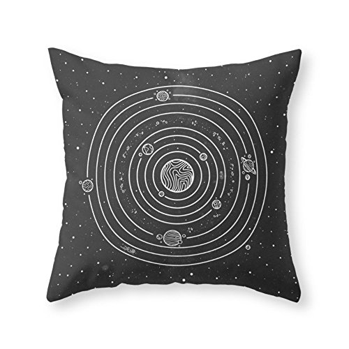 Society6 SOLAR SYSTEM Throw Pillow Indoor Cover (20'' x 20'') with pillow insert by Society6