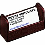 Buddy Products Roma Collection Leather Business Card Holder, Brown, 9236-27