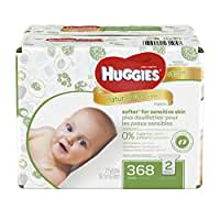 Huggies Natural Care Baby Wipes - Unscented - 368 ct