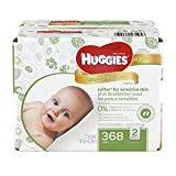 Huggies Natural Care Fragrance Free Baby Wipes Retail Case, 368 Count