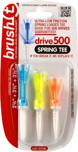 ProActive Sports Brush-t Spring Tee Combo Pack, Assorted (Tee Golf Tee Brush)