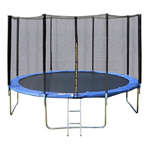 14FT Trampoline Combo Bounce Spring Pad Ladder Safety Enclosure Jumping Mat Net by DTOFREE