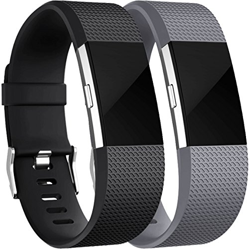 Maledan Replacement Bands for Fitbit Charge 2, 2 Pack