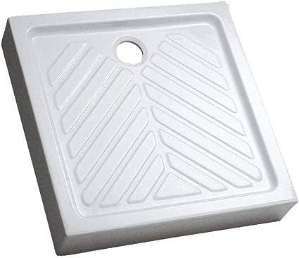 Receptor cuadrado de mesa, extraplano, PRIMA elevada, 2, 80 x 80 cm, diseño de 00716100000 cerámica, color blanco: Amazon.es: Bricolaje y herramientas
