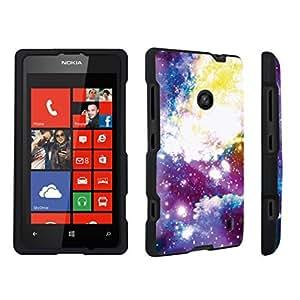 DuroCase ? Nokia Lumia 521 Hard Case Black - (Galaxy) by lolosakes