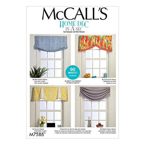 McCall's Patterns M7586OSZ Window Valances for sale  Delivered anywhere in USA