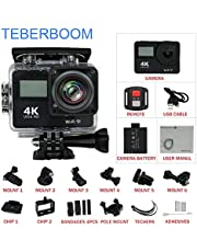 TEBERBOOM S4R Sport DV Action Cam 4K Ultra High Definition Sport Action Camera WIFI Waterproof Camera Dual-Screen