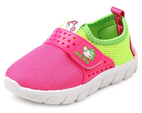 DADAWEN Baby's Boy's Girl's Mesh Light Weight Sneakers Running Shoe Rose Red US Size 11 M Little - Kid Size Little