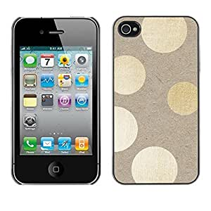 Soft Silicone Rubber Case Hard Cover Protective Accessory Compatible with Apple iPhone? 4 & 4S - beige paper lights subtle