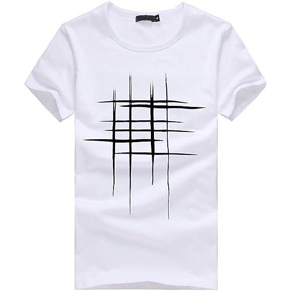 Lenfesh Camisetas de impresión de Hombres Chico niños Camiseta de algodón de manga corta Blusas tops polos camisas Moda: Amazon.es: Ropa y accesorios