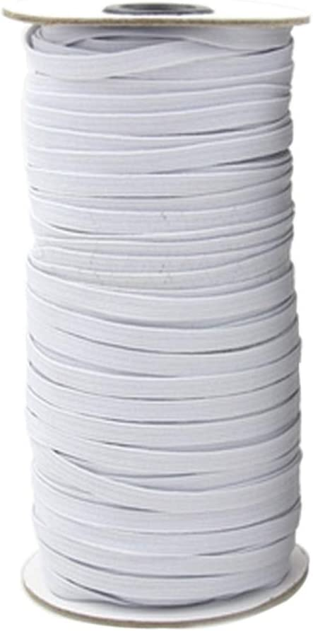 Artibetter DIY Knitting Sewing Elastic Spool Springy Stretch Cord 10M x 6mm Elastic Bands White