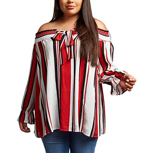 Bretelles Shirt Grande Manche Mot Red Collier Contraste Taille Jibo mOnyNwv0P8