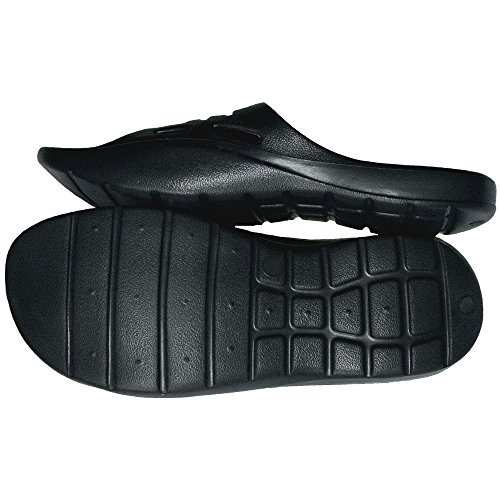 1 Paio Di Pantofole Da Uomo, Nere, Taglia 43, Pantofole Casual, Cuscini Da Bagno, Saune, 2824