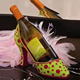 Cheap Polka Dot High Heel Wine Bottle Holder