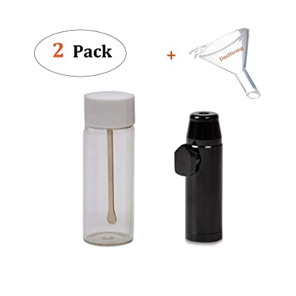 Multifunctional Sniffer Kit with Spice Storage,Snuff Bullet,and Free Micro  Funnel By DmHirmg
