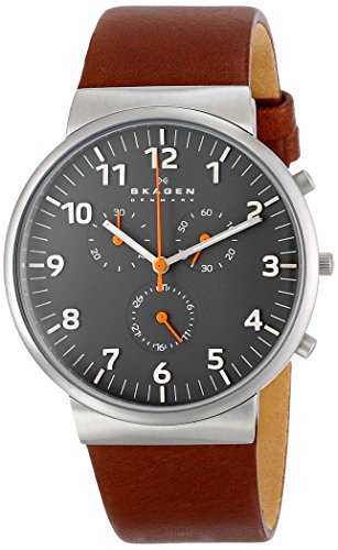Skagen Men's SKW6099 Ancher Saddle Leather Watch