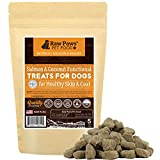 Raw Paws Omega 3 Chews Dogs, 5-oz/50-ct - USA Made - Coconut & Salmon Dog Treats, Soft Skin Chews - Itchy, Dry Skin Dog Treats Help Support a Healthy Dog Coat - Skin Coat Supplement Dogs