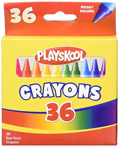 NEW Package of 36 - Playskool CRAYONS - Bright Colors - Non-