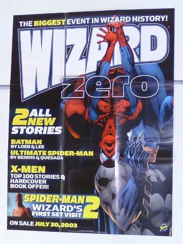 Art Batman Lee Jim (Marvel Comics and DC Comics Batman & Spider-man Team-Up Wizard 25 by 19 inch comic book promotional promo poster: Art by Jim Lee)