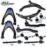honda crv 2000 suspension - DLZ 12 Pcs Front Suspension Kit-2 Upper Control Arm Ball Joint Assembly 2 Lower Control Arm 2 Lower Ball Joint 2 Inner 2 Outer Tie Rod End 2 Sway Bar for 1997 1998 1999 2000 2001 Honda CR-V