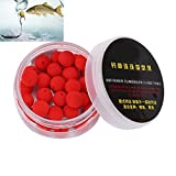 30Pcs/Box Smell Soft Fishing Lure Soft Boilies Fishing Bait Boilies Floating Smell Ball Beads Feeder Artificial Carp Baits Lure (Red 12mm)