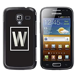 Be Good Phone Accessory // Dura Cáscara cubierta Protectora Caso Carcasa Funda de Protección para Samsung Galaxy Ace 2 I8160 Ace II X S7560M // w internet letter initial poster grey