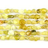 JARTC Natural Irregular Shape Stone Beads 6-8mm Yellow Opal Gemstone Energy Cured for Jewelry Making Necklaces