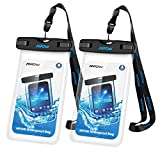 #1: Mpow Universal Waterproof Case, IPX8 Waterproof Phone Pouch Dry Bag Compatible for iPhone X/8/8plus/7/7plus/6s/6/6s Plus Galaxy s8/s7 Google Pixel HTC10 (Clear 2-Pack)