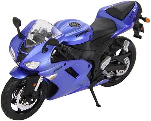 Kawasaki Ninja ZX-6R en kit modelo azul escala 1:12 de ...