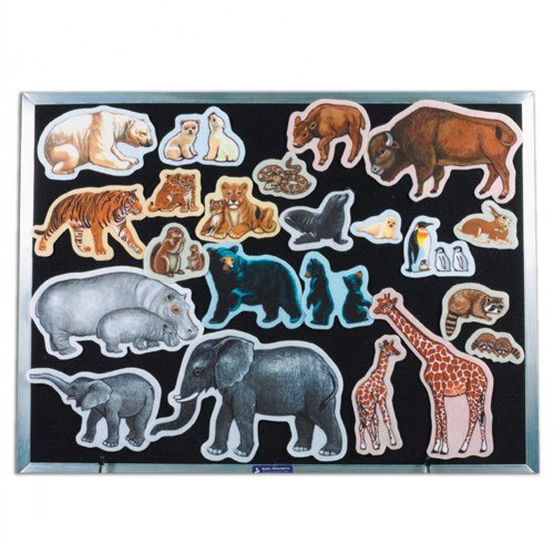 Little Folk Visuals Wild Animals Precut Flannel//Felt Board Figures 22 Pieces Set LFV22305 NAS-B0006V56G6