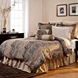 King/California king,3-piece Ensemble Luxury Bedding, Urban Safari, Zebra, Tiger, Cheetah,leopard Animal Print Duvet Cover Set, Soft-to-touch+ Bonus Bundle Ln High Quality Scalp Massaging Comb.