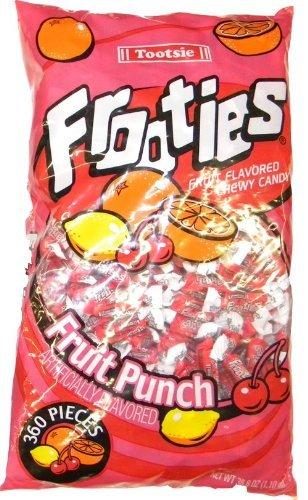 Tootsie, Frooties, Fruit Punch Flavor, 360 Pieces, 38.8oz Bag (Pack of 2)