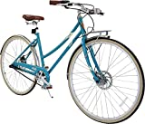"""Columbia Bicycles Relay 700C Women's Vintage 3-Speed City Cruiser Bike, Sea Blue, 18""""/One Size"""