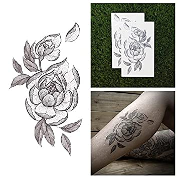 a394ba0c13c24 Amazon.com : Tattify Flower Temporary Tattoo - Bride and Bloom (Set of 2) -  Other Styles Available - Fashionable Temporary Tattoos - Long Lasting and  ...