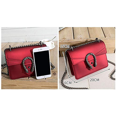 Simple Square Red Shoulder Retro Bag Small Silicone Handbag Bag UrUw4Fq