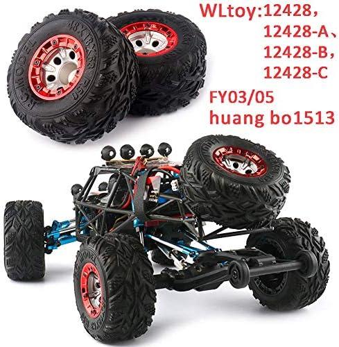 Ocamo 2個セット 100mm スピードカータイヤホイール Wltoys 12428 FY-03 オートアップグレードパーツ