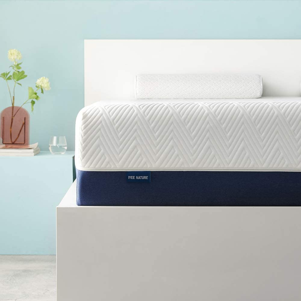 IYEE NATURE Full Mattress 12 Inch Cooling-Gel Memory Foam Mattress in a Box,Medium Firm CertiPUR-US Certified Breathable Bed Mattress Supportive & Pressure Relief,54''x 74''x12''