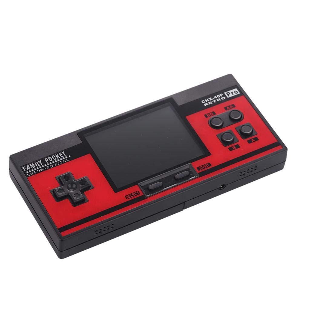 Built in 638 Games 8 Bit Game Console,Hongxin Retro Portable Handheld Family Pocket Game Player (Red) by Hongxin-Game Console (Image #3)
