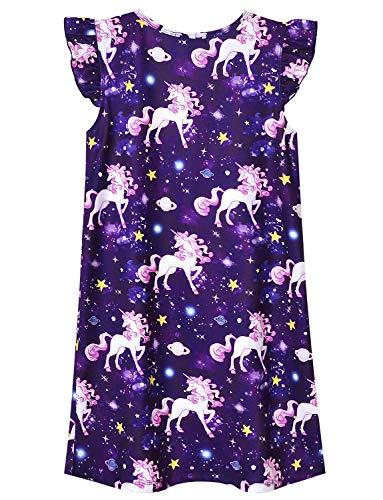 Jxstar Girls Nightgowns Unicorn/Mermaid Pajamas Sleepwear CottonNight Dresses …