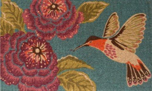 Home & More 120261729 Hummingbird Delight Doormat, 17'' x 29'' x 0.60'', Multicolor