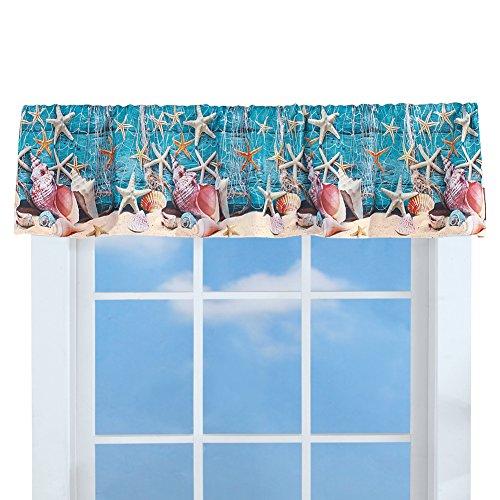 Collections Etc Starfish Coastal Décor Curtain Valance Topp