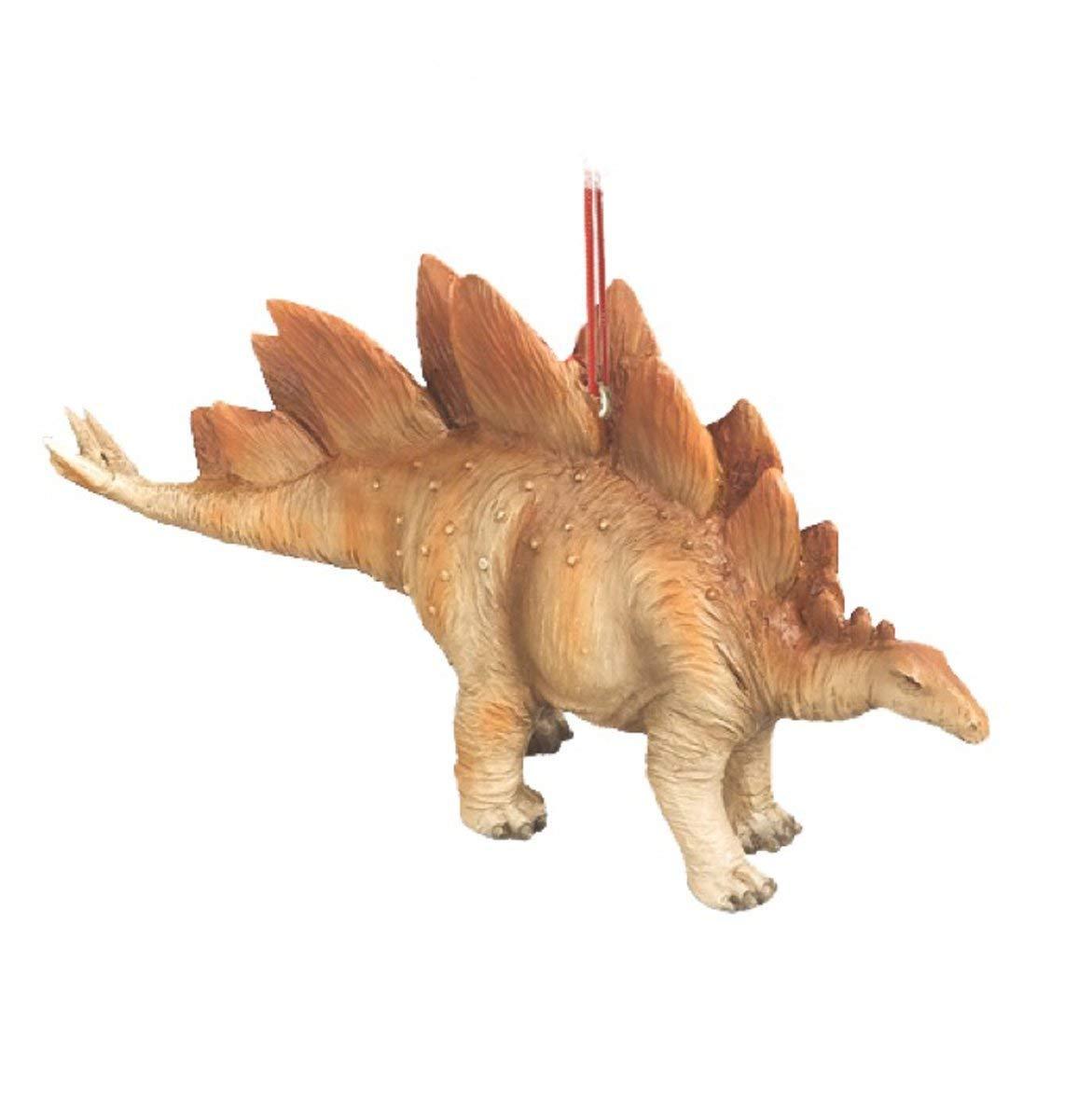 Stegosaurus Jurassic Dinosaur Resin Stone Christmas Tree Ornament Midwest-CBK