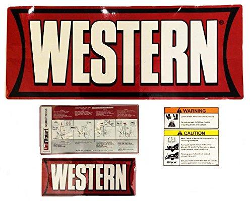 Western Snow Plow P/N 28547, Factory Original Uni-Mount Decal, Label, Sticker Kit