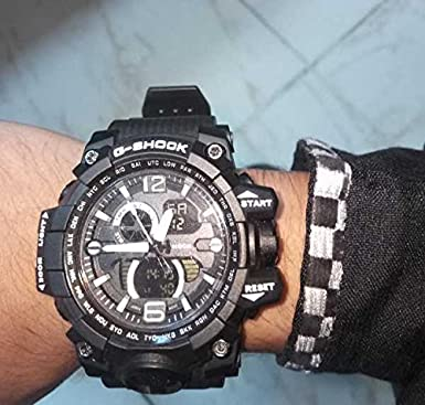 c81c52d0611 Buy Black G-Shock replica sports Watch Online at Low Prices in India -  Amazon.in