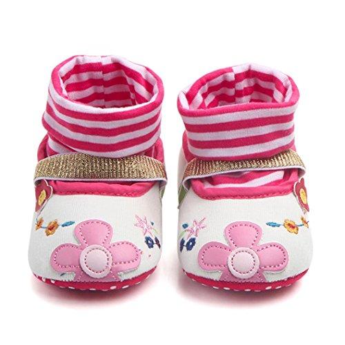 HUHU833 Neugeborene Lovely Kleinkind Schuhe Baby Schuhe Karikatur Schuhe Weiche Schuhe Kinder Baby Freizeitschuhe 0~12Month Weiß