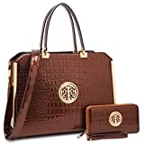 MKP Collection Beautiful and Designer Shoulder handbag with Wallet,Satchel for woman,Fashion Purse (10-6900W) Coffee