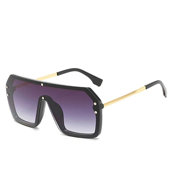 Yangjing-hl Gafas de Sol siamesas Fashion One Big Box Gafas ...