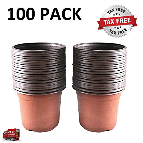 100 Pcs 4.33'' Plastic Plants Nursery Pot/Pots Seedlings Flower Plant Container Seed Starting Pots by Awefrank