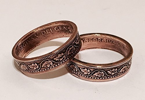 *** NEW ITEM *** His & Hers Canadian Large Cent Rings